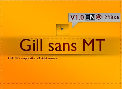 فونت لاتین Gill sans MT