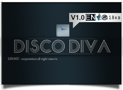 فونت لاتین disco diva