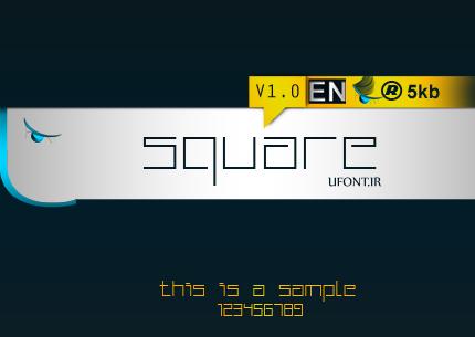 فونت square