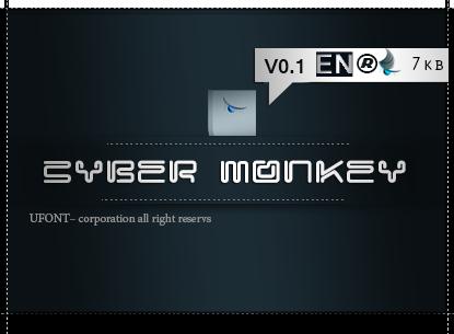 فونت cyber monkey