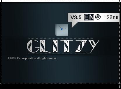 دانلود فونت Glitzy