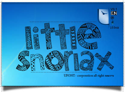 فونت لاتین Little Snorax