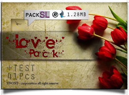 مجموعه فونت سمبل Love Pack