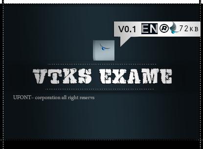 دانلود فونت VTKS-EXAME