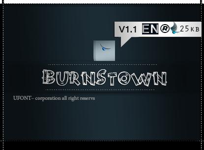 فونت لاتین Burnstown