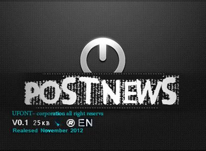 فونت post-news