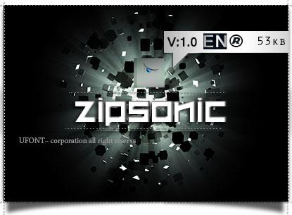 دانلود فونت ZipSonic