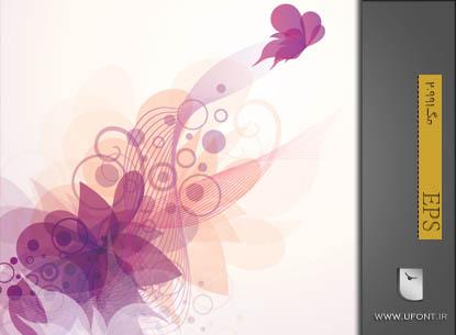 وکتور پروانه گرافیکی