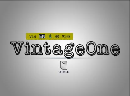 فونت لاتین vintageOne