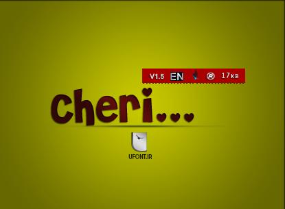 فونت لاتین Cheri