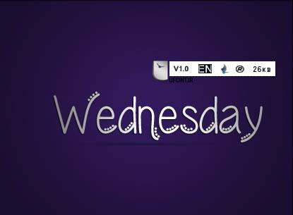 فونت لاتین Wednesday