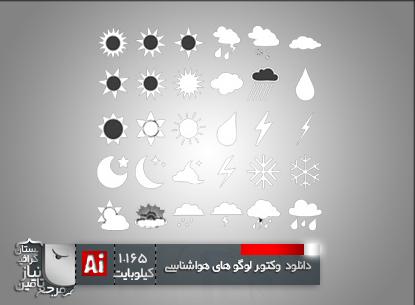 مجموعه لوگوهای هواشناسی