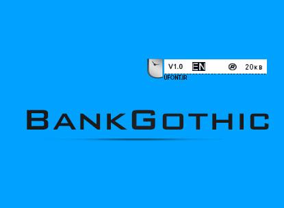 فونت لاتین  BankGothic