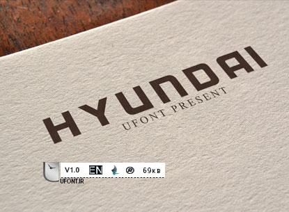 دانلود فونت شرکت Hyundai - پیشنمایش